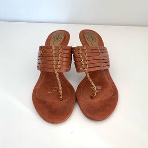 Dr Scholl's Sandals- brown 7.5